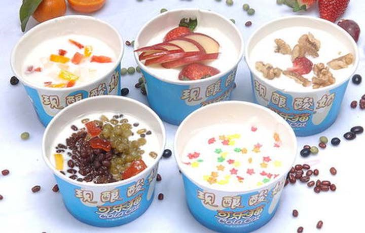 Flavored yogurt made by yogurt making machine