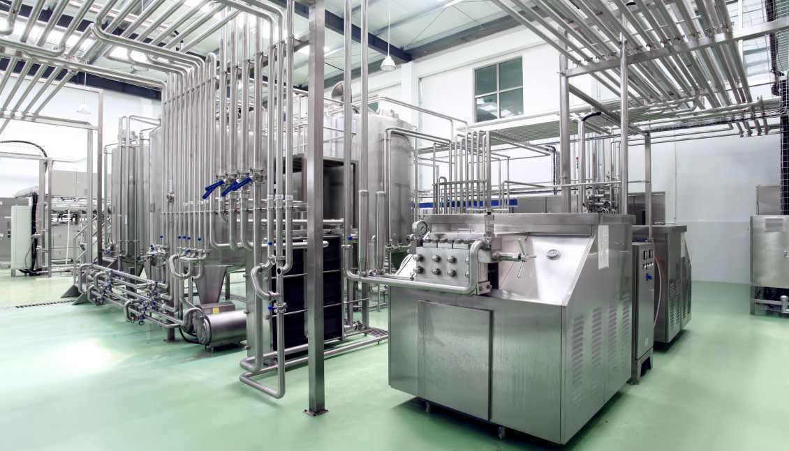 Milk Homogenizer Machine in the Yogurt Production Line