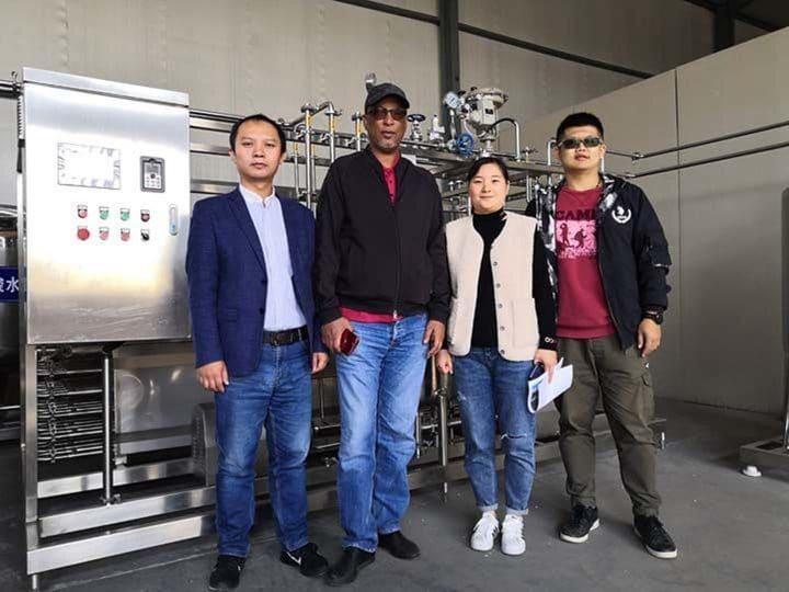 Saudi customer visited yogurt machine factory