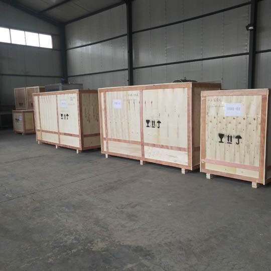 packing and shipping of the yogurt processing machines