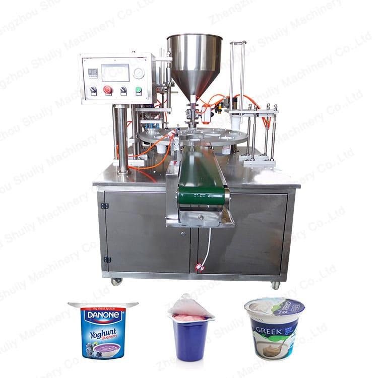 Automatic filling plate of the yogurt machine