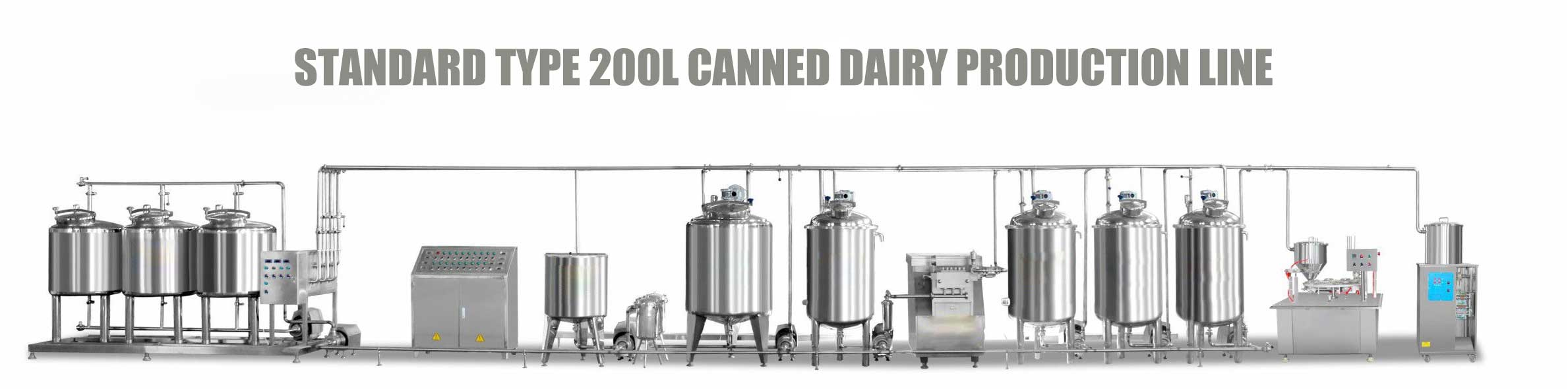 Standard type 200l canned dairy production line