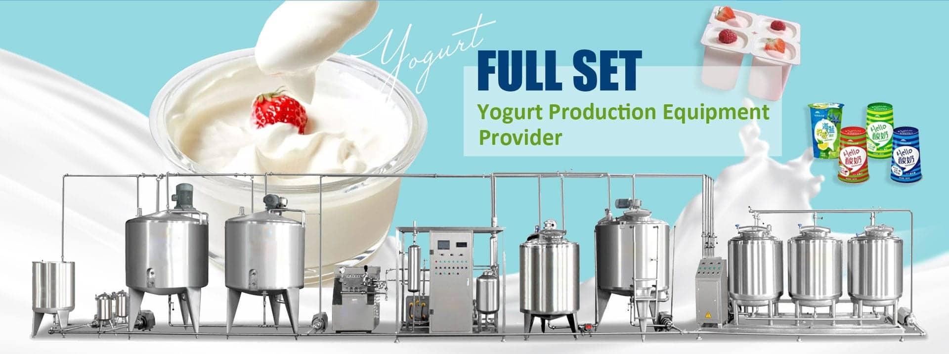 Full set of the yogurt production line